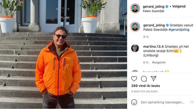Gerard Joling deelt een foto vanaf Paleis Soestdijk. (Foto: Instagram/Gerard Joling)