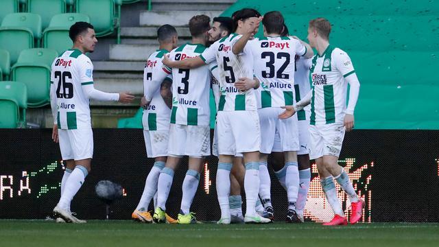 FC Groningen deed goede zaken in de strijd om Europees voetbal.