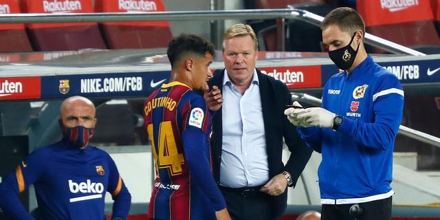 Koeman spreekt na winst bij Barcelona-debuut van 'optimale eerste helft'