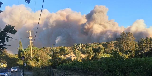 Enorme bosbranden woeden in zuiden van Frankrijk