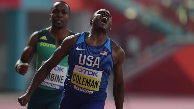 Topfavoriet Coleman sprint overtuigend naar winst op 100 meter WK