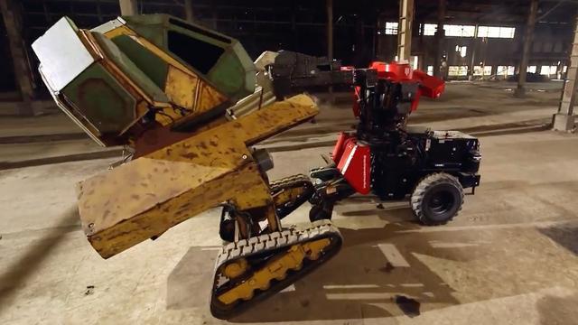 Megarobots vechten tegen elkaar voor eerste wereldtitel