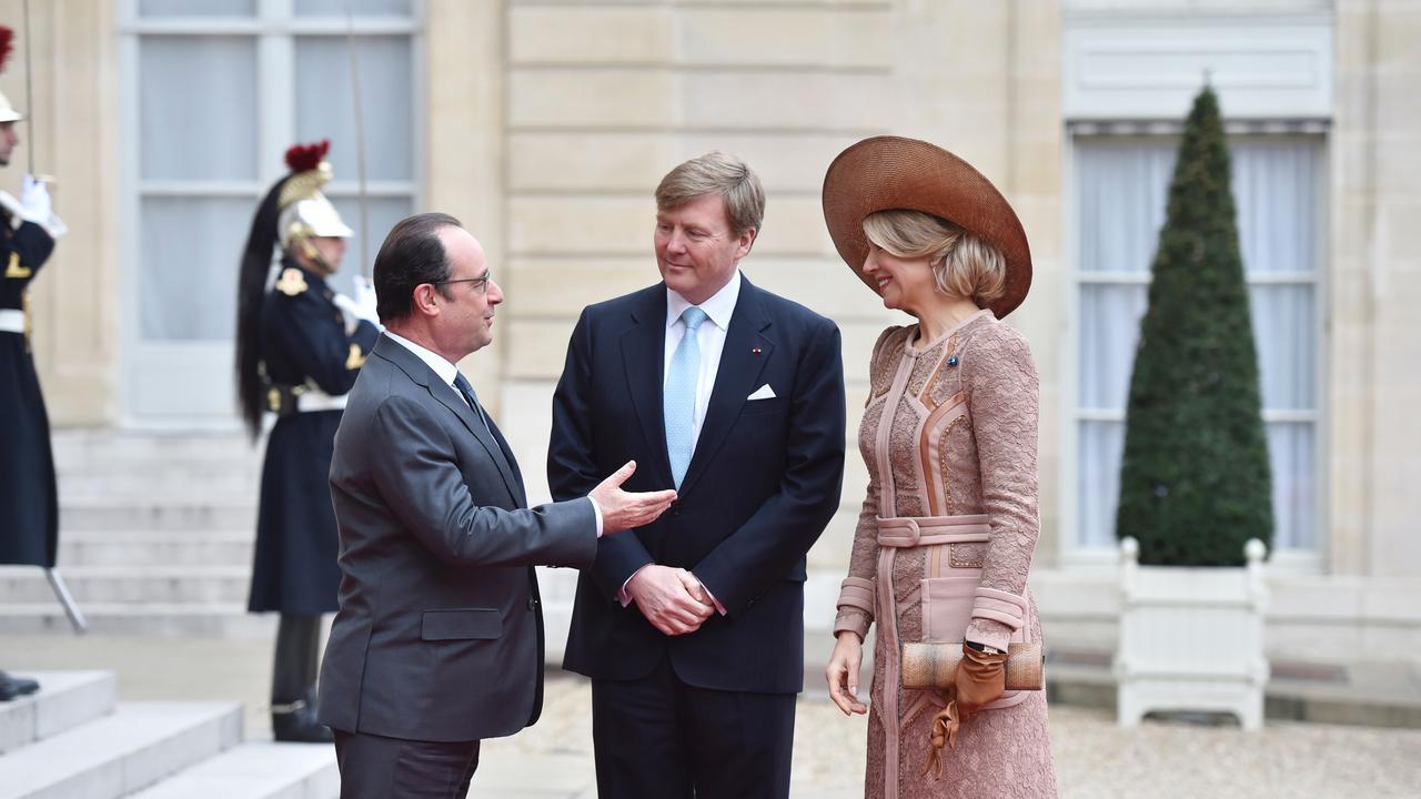 Hollande ontvangt Willem-Alexander en Máxima