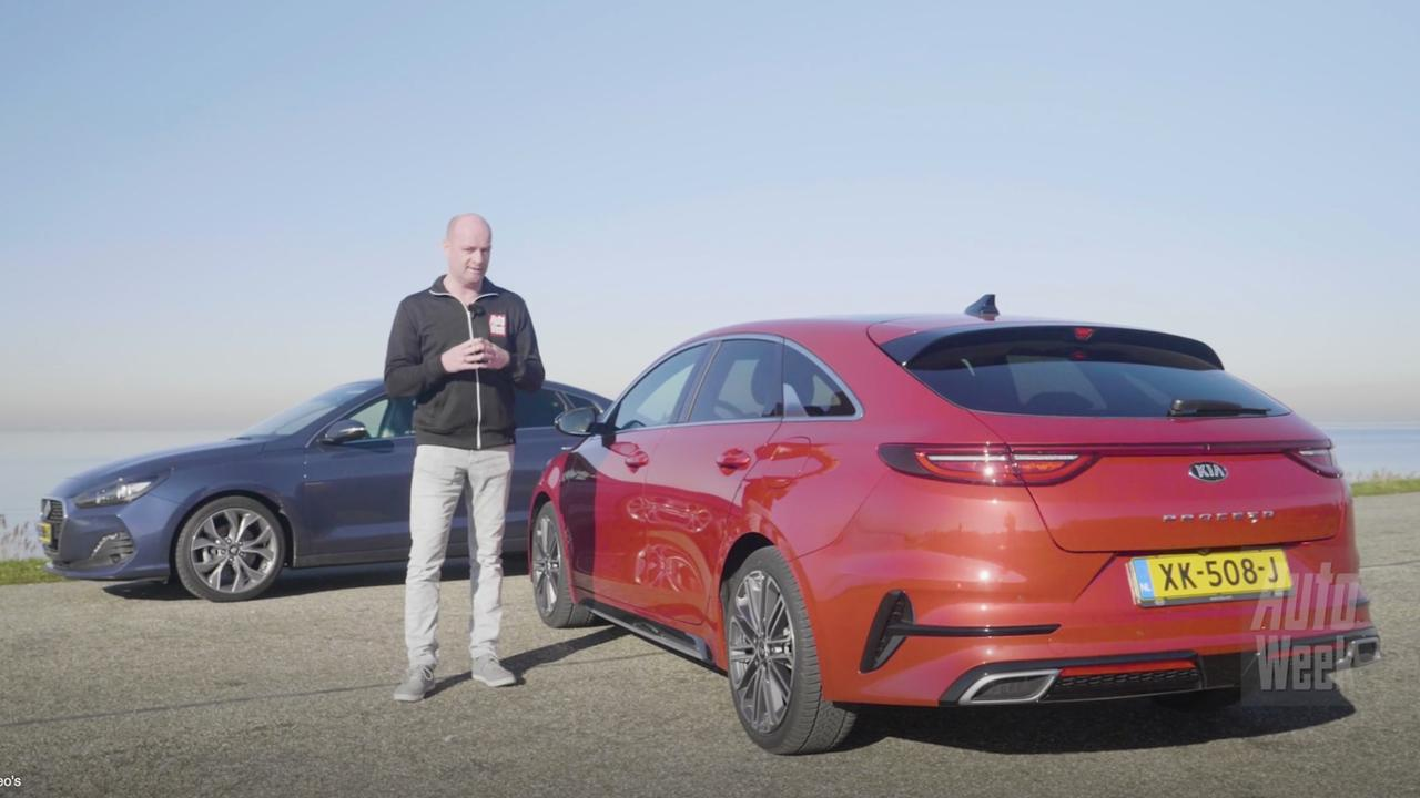 First Double Test Kia Proceed Against The Hyundai I30