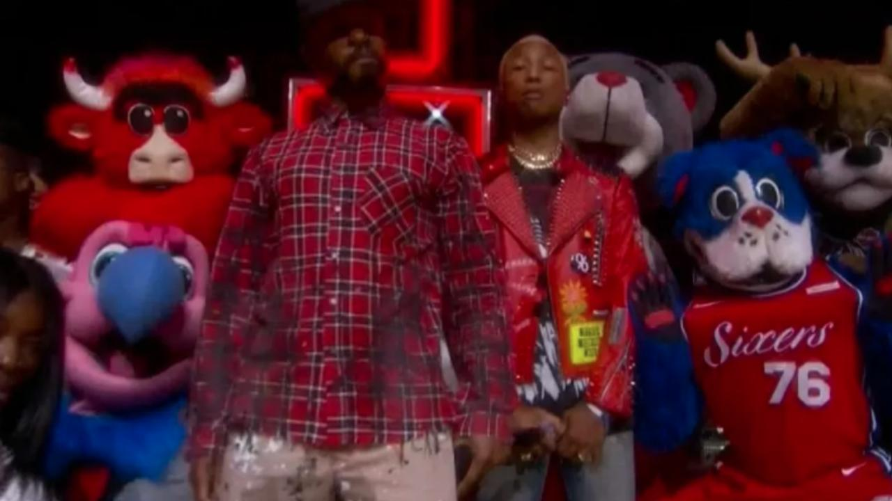 N.E.R.D. brengt grootste hits tijdens halftime show NBA All Star