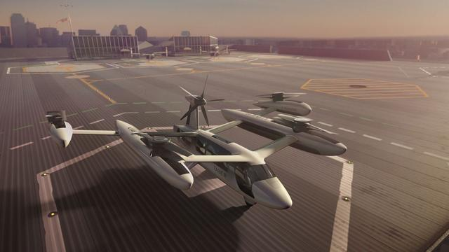 Uber toont nieuw prototype vliegende taxi