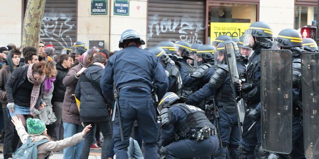 Driehonderd mensen vast na demonstraties Parijs