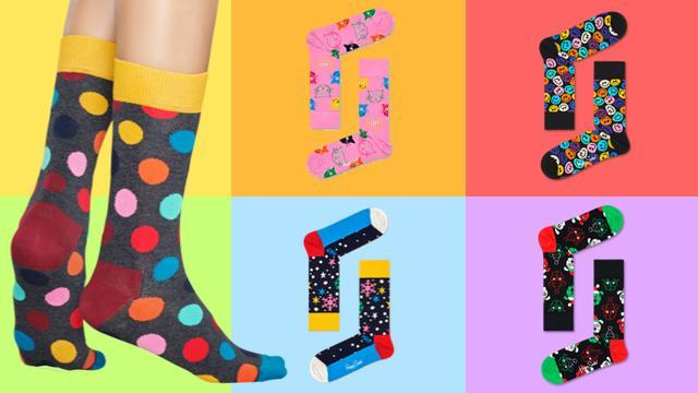6-pack Happy Socks voor heren en dames van 64,95 voor 29,95 euro
