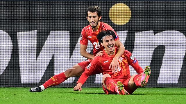Noord-Macedonië zorgde voor een grote stunt door viervoudig wereldkampioen Duitsland te verslaan.