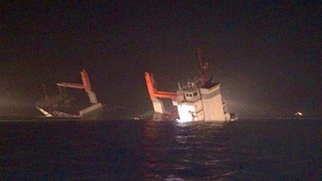 Nederlands vrachtschip gezonken na aanvaring op Noordzee