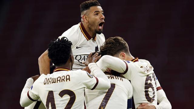 AS Roma is dicht bij de halve finales na de zege in Amsterdam.