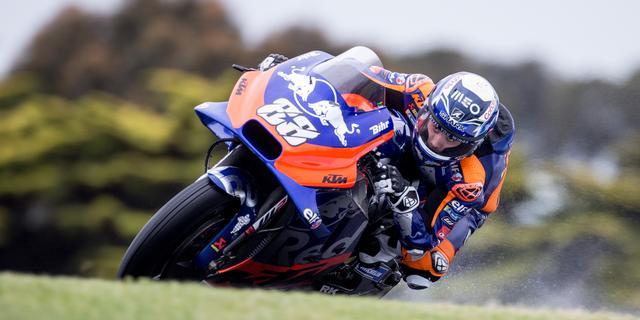 Wind leidt tot harde val MotoGP-coureur Oliveira en afgelasting kwalificatie