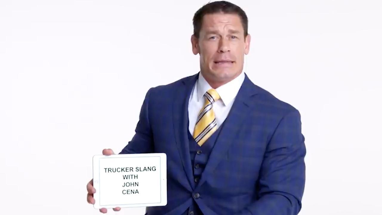 John Cena geeft les in veelgebruikte truckertermen