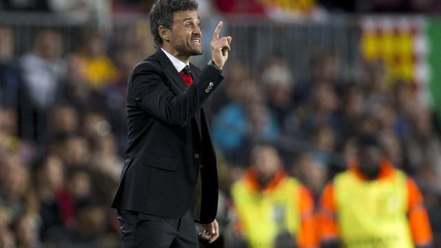 Luis Enrique geniet van galavoorstelling Barcelona tegen AS Roma