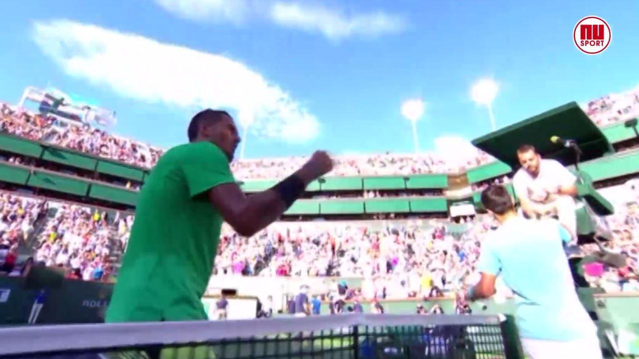 Kyrgios verrast titelverdediger Djokovic in Indian Wells