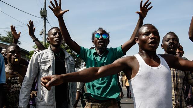 Traangas bij demonstratie Burundi