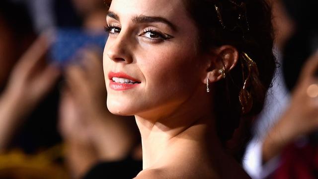 Emma Watson voor opnames in Leiden