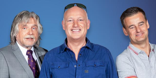 VI-trio Genee, Derksen en Van der Gijp krijgt dagelijkse talkshow bij SBS6