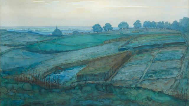 Landschap van Mondriaan brengt bijna 2 ton op
