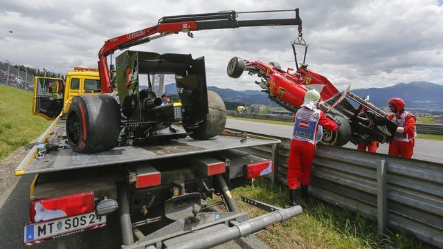 Raikkonen begrijpt nog niks van oorzaak crash in Oostenrijk