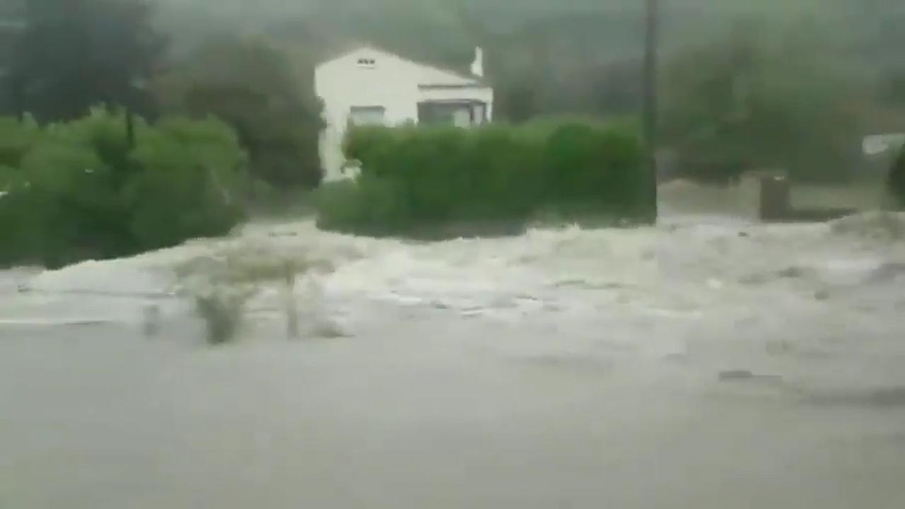 Noodweer zorgt voor overstromingen in Zuid-Frankrijk