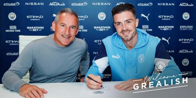 Manchester City breekt Brits transferrecord met vastleggen Grealish