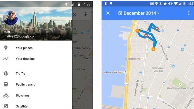 Google Maps laat gebruikers locatiegeschiedenis zien