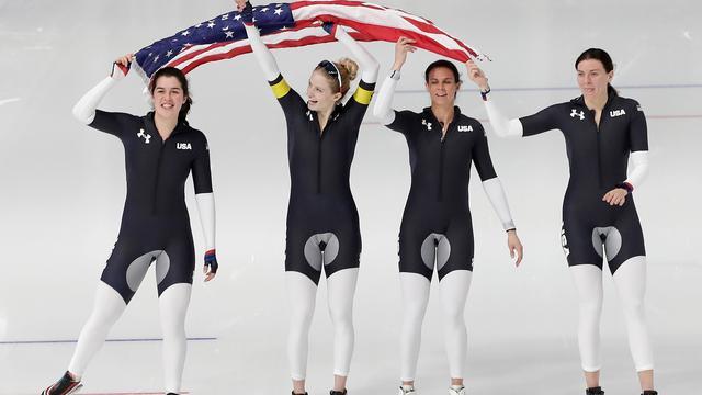 Schaatssters VS voelen zich 'gezegend' met zeldzame olympische medaille