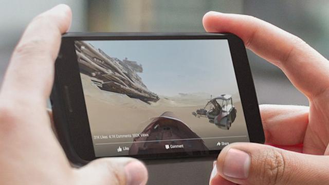 Facebook laat 360 graden-video's ook op iPhone zien
