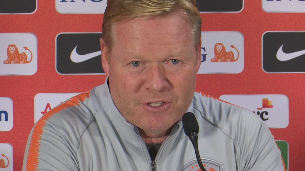 Bondscoach Koeman: 'Veel dingen moeten nog beter bij Oranje'