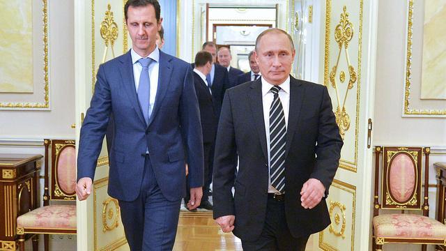 Amerika veroordeelt bezoek Assad aan Poetin