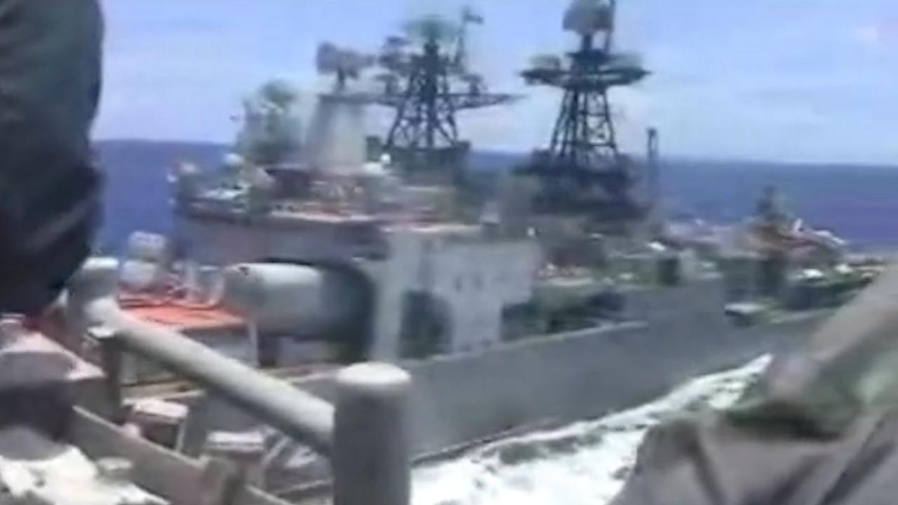 Oorlogsschepen Rusland en VS varen rakelings langs elkaar in Oost-Chinese Zee