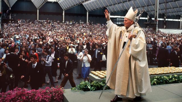 Paus Johannes Paulus II in 1985