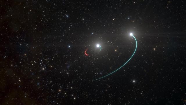Dichtstbijzijnde zwarte gat gevonden dankzij sterren die eromheen draaien