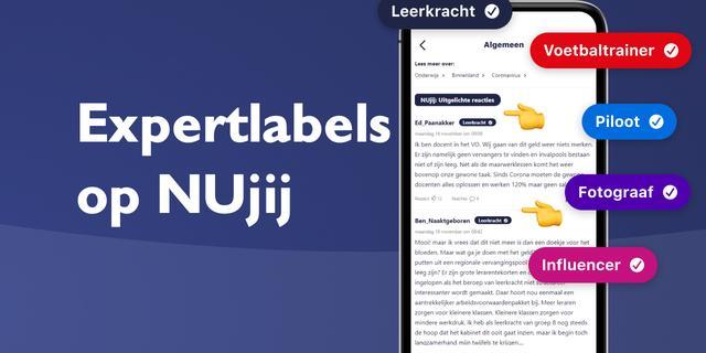 NUjij laat met expertlabels de kennis en expertise van gebruikers zien