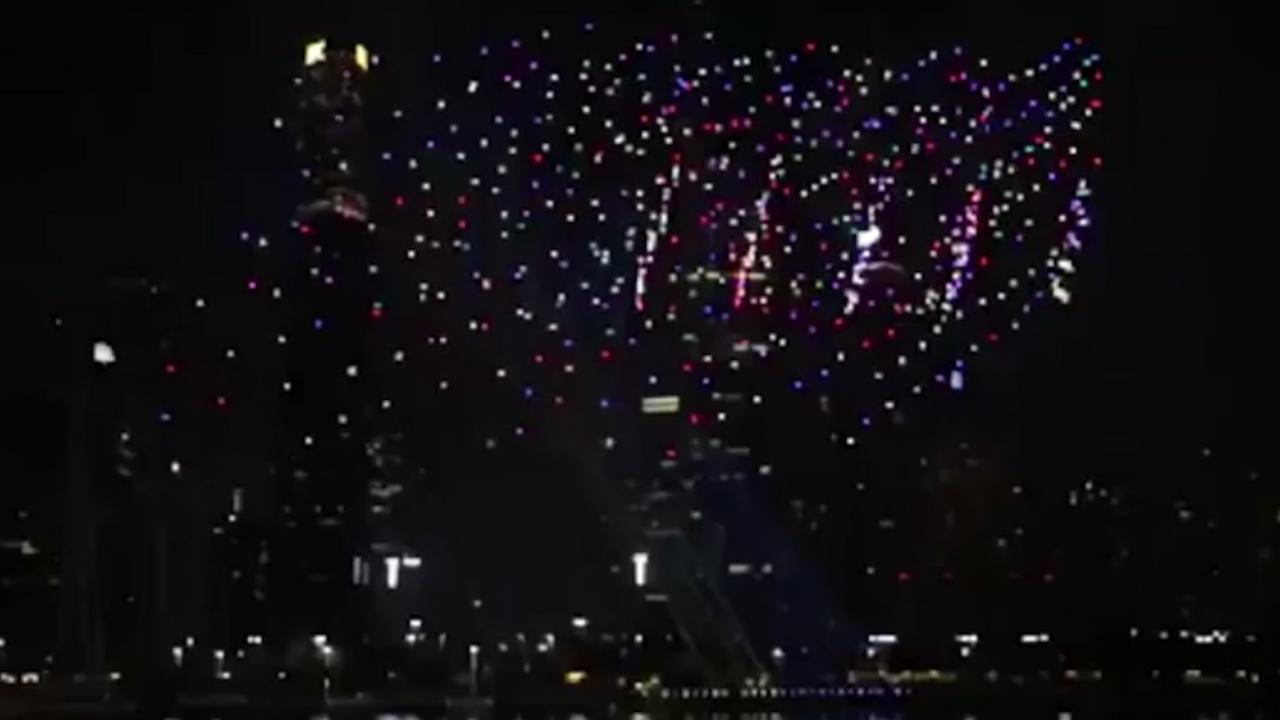 Bijna 1.200 drones verlichten Chinese stad in enorme show