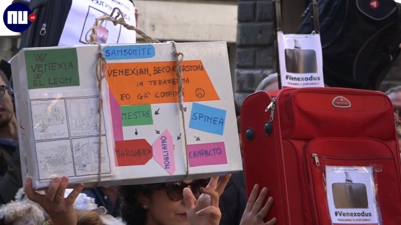Venetianen demonstreren tegen hoge aantal toeristen