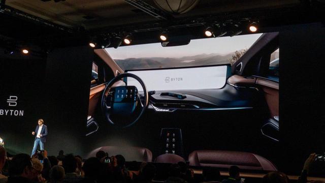 Autostart-up Byton voegt derde scherm toe aan dashboard van slimme auto