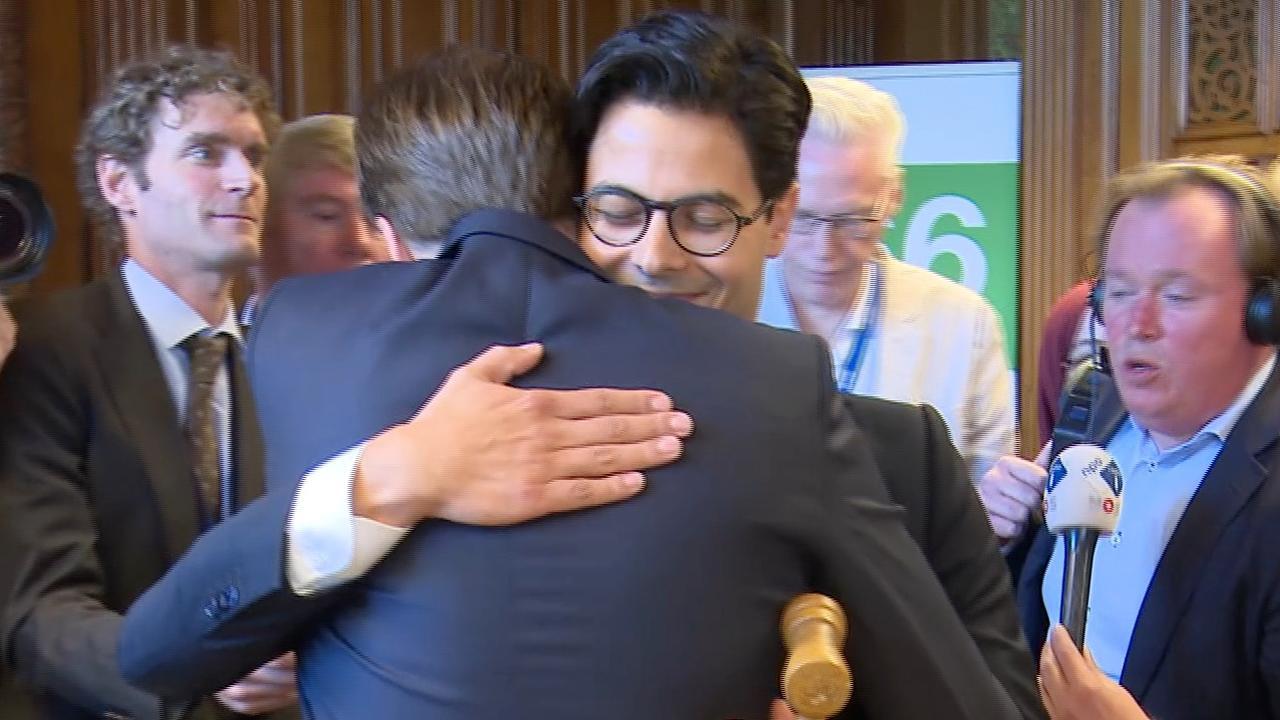 Rob Jetten 'heel blij' met unaniem vertrouwen vanuit D66-fractie