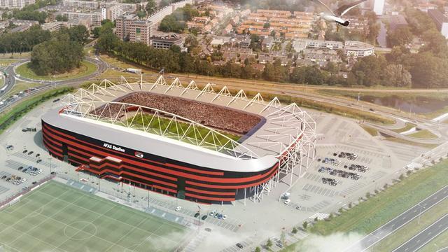 Gemeente stelt 10 miljoen euro beschikbaar voor nieuw stadiondak AZ