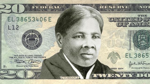Afbeelding van Harriet Tubman op Amerikaans biljet van 20 dollar