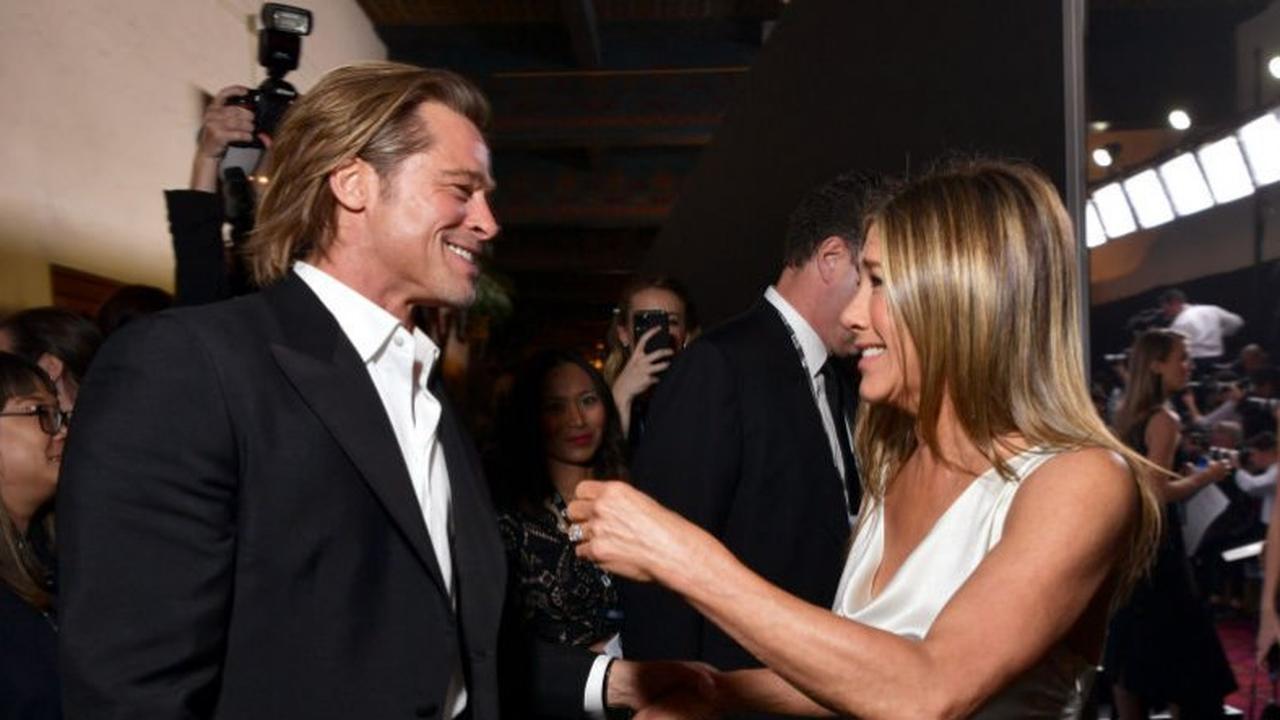 Pitt en Aniston voor het eerst in tijden samen vastgelegd