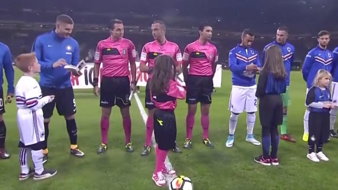 Aanvoerders Inter en Sampdoria tekenen als eerbetoon dagboek Anne Frank