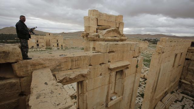 IS vecht in noordelijke gedeelte historische stad Palmyra