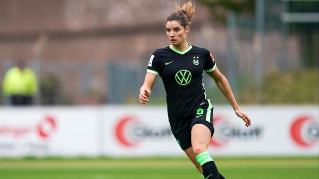 Dominique Janssen was invaller bij Wolfsburg.