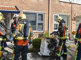 De bewoner ontdekte de brand bij thuiskomst