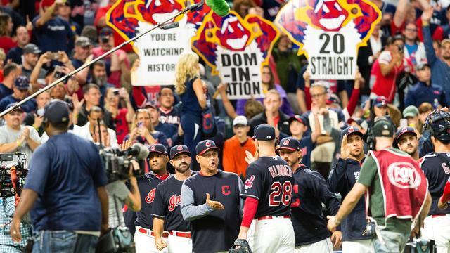 Indians evenaren beroemd naoorlogs MLB-record door lange zegereeks