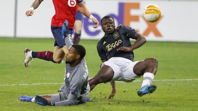 Brian Brobbey tekende in de slotfase voor de winnende treffer namens Ajax.