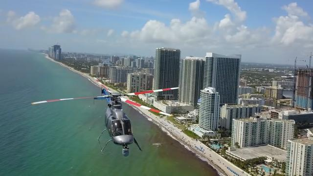 Drone komt bijna in botsing met helikopter voor kust Florida