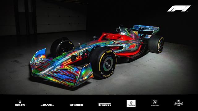 De nieuwe Formule 1-auto werd donderdag voorafgaand aan het Grand Prix-weekend in Silverstone gepresenteerd.
